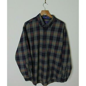 Pendleton Large Canterbury Cloth Button Shirt Blue